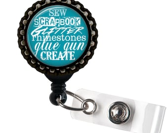 Super Crafter - Black Retractable Badge Reel ID Holder