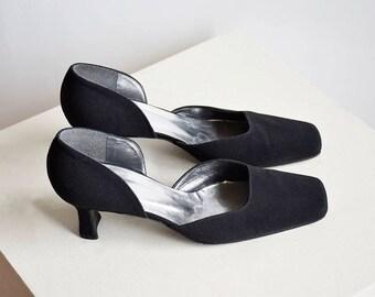 Stuart Weitzman vintage pumps, black pumps, elegant pumps, classic heels