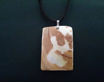Genuine Mother of Pearl Shell Pendant on Leather Cord x 4