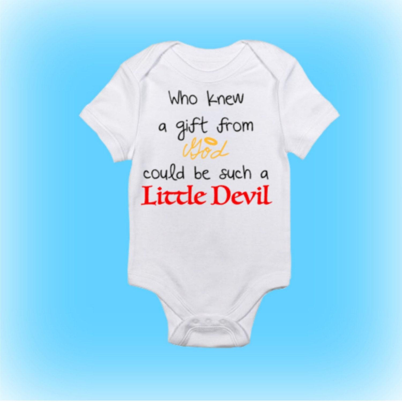 Little Devil Baby esie Unique Baby Shower Gift Shower