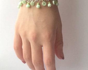 Hills and Valleys- Nature Inspired Green Bracelet