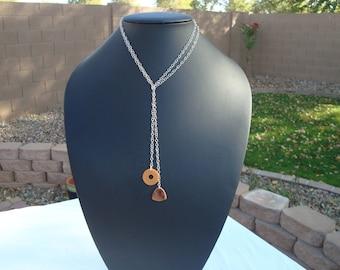 STERLING BAKELITE Lariat necklace