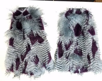 Feather Print Fluffies Furry Leg Warmers Go-Go Bootcovers | Gifts Under 30 | Gifts for Her | Gifts for Him | Gifts for Kids