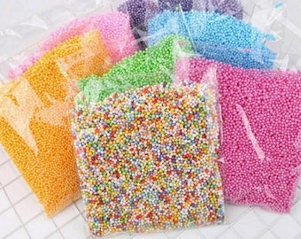 Free Shipping! 1 Bag! DIY Snow Mud Particles Accessories Slime Balls Small Tiny Foam Beads For Floam Filler For DIY Supplies 2-4mm
