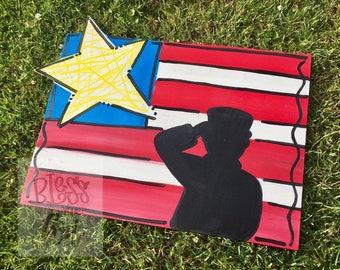 American Flag Hanger