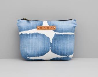 Dana Simple Handmade Zipper Clutch (Pouch) Small BLUE 2
