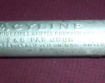Vintage French Acyline tablets container