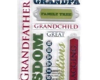 3D Epoxy family grandparents Sticko 18 x 10 cm creative cardmaking scrapbooking stickers