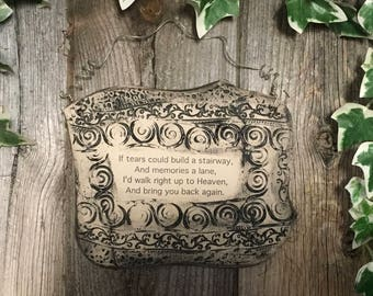 Handmade Inspirational Quote Ceramic Plaque
