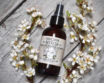 Botanical Facial Cleanser REFRESH Stimulating with Green Tea & Peppermint - 120ml // 4oz