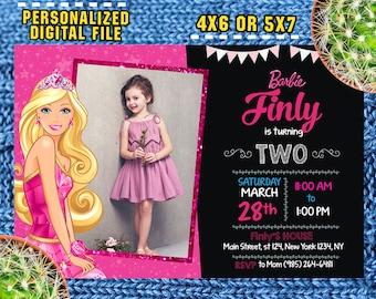 Barbie Invitations/Barbie Birthday/Barbie Party/Barbie Invite/Barbie Printable/Barbie Card/Barbie  Party Invite/F0029