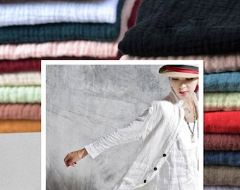 Solid linen cotton fabric spring linen cotton blend fabric prewashed and soft cotton fabric bamboo texture linen cotton fabric