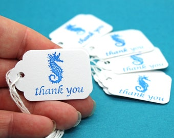 Hang Tag, Seahorse Thank You Hang Tag, Wedding Favor Tag, Price Tag, Small Hang Tag, Seahorse Tag, Party Favor Tag
