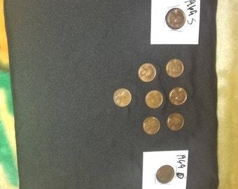 1969 D/S No Mint Wheat penny