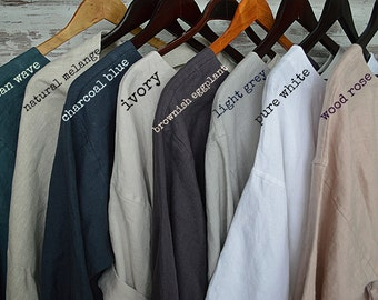 Linen fabric samples - all colors fabric set