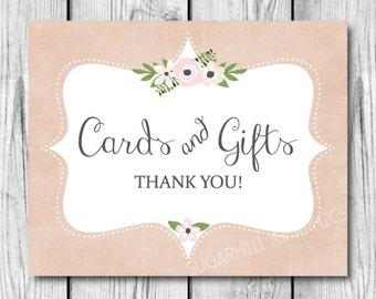 Wedding Sign, Printable Wedding Sign, Wedding Cards and Gifts Sign, Wedding Signage, Cards and Gifts Sign, Wedding Decor, Wedding Signage