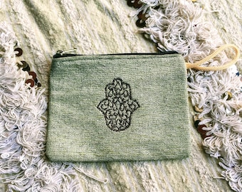 Pouch, pouch, Morocco, hand of fatima, two-piece set
