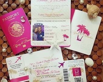 Passport invitation template etsy more colors vanessas destination wedding invitations diy solutioingenieria Images