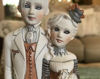 Helen Kish Love & Kishes Wedding Cake Topper Steam Punk Figurine New Bride Groom TYCAALAK