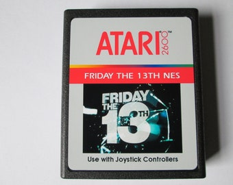 Atari 2600 Friday The 13th NES Video Game Cartridge < FREE SHIPPING >