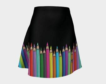 Flared Skirt - Coloured Pencils