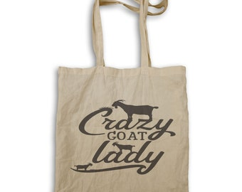 Crazy Goat Lady Tote bag t532r