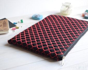 Red Black MacBook Air Pro 13 sleeve, MacBook Pro 13 sleeve, MacBook 13 Case, Macbook Air 13 sleeve, MacBook Air 11 Case, Macbook Air sleeve