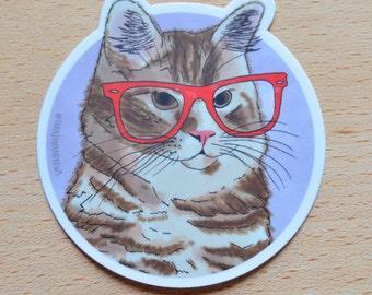 Cat sticker, Orange tabby sticker, cat laptop sticker, Cat Laptop Sticker, Vinyl Sticker, Cat Vinyl Sticker, Planner Stickers
