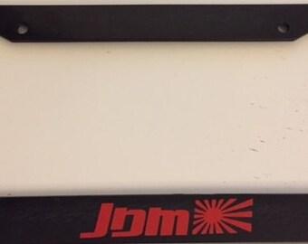 JDM Japanese Flag - Black with RED  License Plate Frame - Flex Fuel Racing Jdm