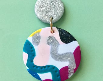 Klay By Pia ||| The Squiggle Dangle Earrings in Circle