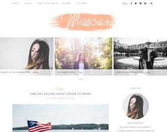 Wordpress theme - wordpress template- Feminine wordpress theme - Responsive WordPress Theme - Blog template - Fashion template - Mascara