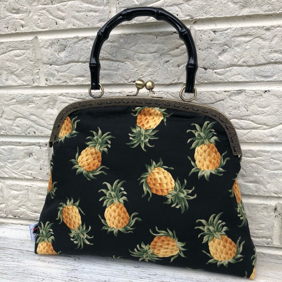 Pineapple Handbag Rockabilly Pinup 1950's Inspired