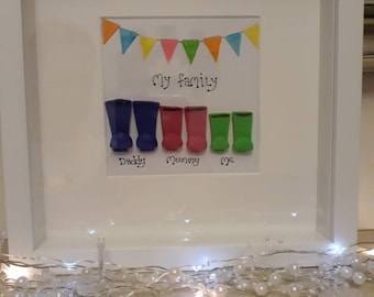 BOX FRAMES..family wellies x