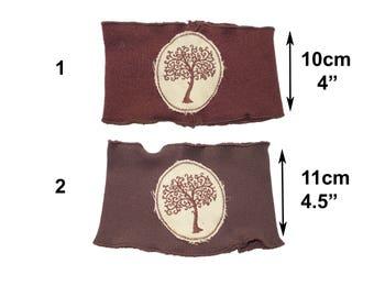 Tree of life woodland headband in brown