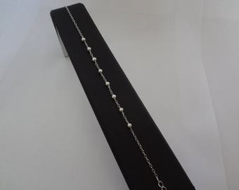 Pyramid bracelet with small round beads 925 sterling silver