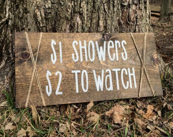 Bathroom Humor + Bathroom Decor + Farmhouse Bathroom + Wooden display + Rustic Decor + Bathroom + Rustic Bathroom + Wooden decor