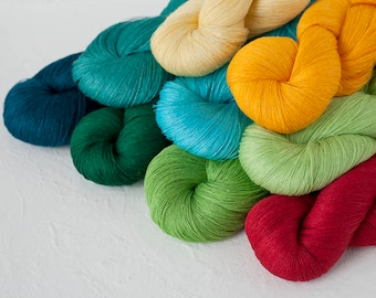 Linen thread - Set of 9 linen skeins