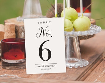 Wedding Table Numbers - Printable Table Numbers -  Printable Wedding - DIY Table Card -  Rustic Table Numbers - Seating Table Cards #WDH101