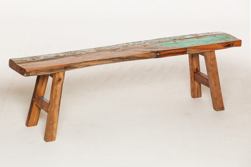 Outdoor Furniture, Reclaimed Teak Bench Made From Reclaimed Bali Boats