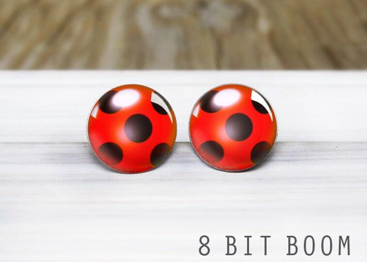boucle d'oreilles ladybug