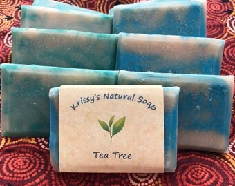 Homemade Goat Milk Soap- Tea Tree Delight