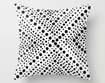 OUTDOOR Throw Pillow . Black and White Outdoor Pillow . Modern Throw Pillow Geometric . 16 18 20 inch . White Rectangle Pillow White Pillow