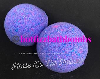 Fruity hoops fragranced bath bomb