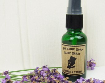 Lavender and Vanilla Natural Sleep Spray with Essential Oils 30ml by Saltaire Soap