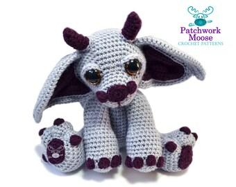 Gargoyle Crochet Pattern PDF Instant Download - Merlin