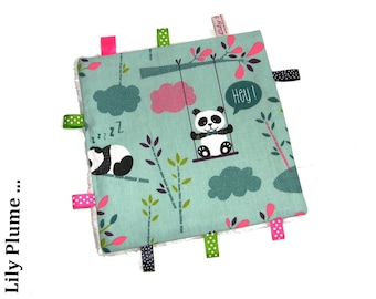Taggy square green water panda