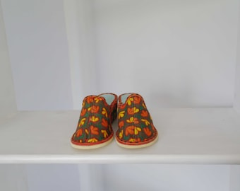 Original 60's Vintage offset soft slippers
