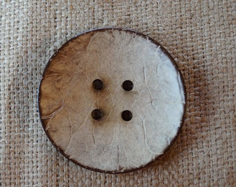 Large Coconut wood button