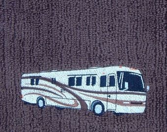 Class A Motorhome Brown Microfiber Towel -  RV Kitchen Towel - Camping Decor - RV Decor - Camper Dish Towel - Class A Towel - Kitchen Towel
