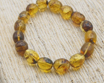 Fully Polished Mexican Bead Bracelet 14.5g